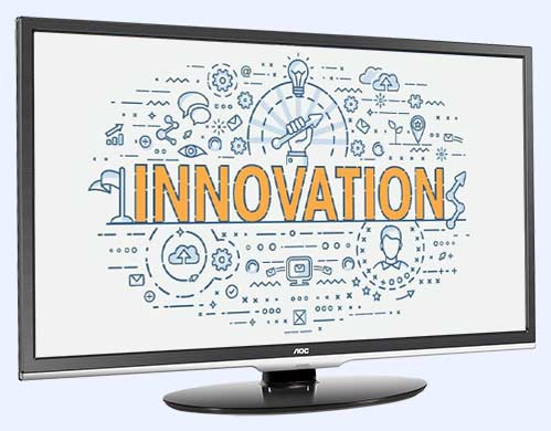 image on innovation on TV screen