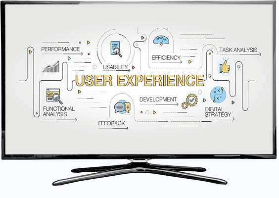 user experience diagram on TV